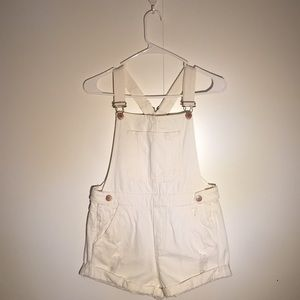H&M White Shorts Overalls